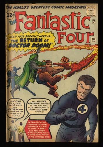 Fantastic Four #10 GD 2.0 Doctor Doom! Marvel Comics
