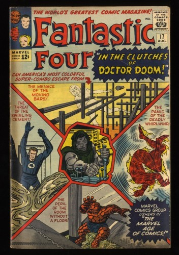Fantastic Four #17 VG- 3.5 Doctor Doom! Marvel Comics