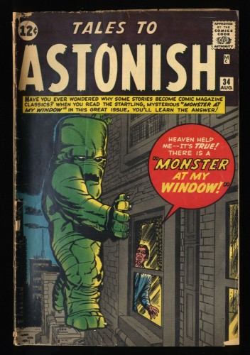 Tales To Astonish #34 VG- 3.5 Pre-Hero Monster Kirby Cover!
