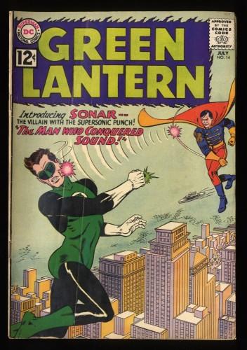 Green Lantern #14 VG- 3.5 1st Sonar! DC Comics