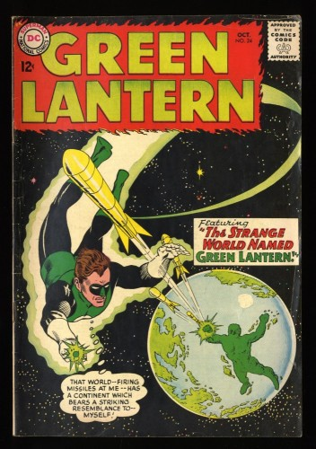 Green Lantern #24 VG 4.0