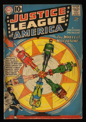 Justice League Of America #6 VG- 3.5 1st Amos Fortune! DC Comics