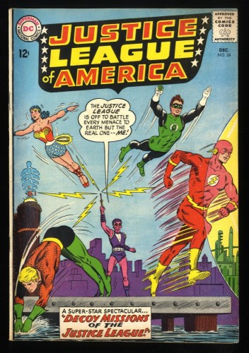 Justice League Of America #24 FN- 5.5