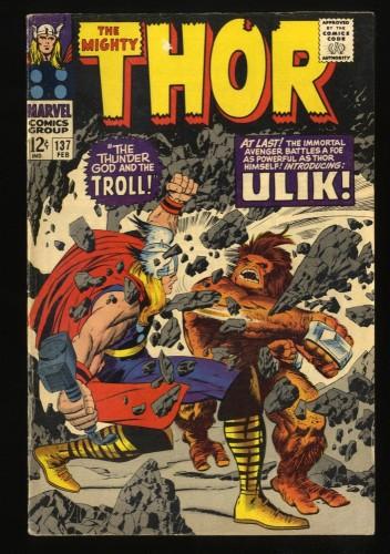 Thor #137 VG+ 4.5 1st Ulik! Marvel Comics