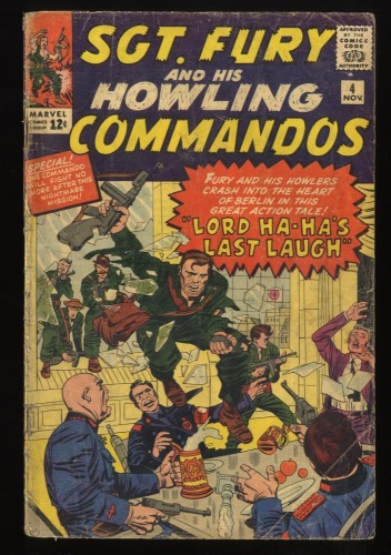 Sgt. Fury and His Howling Commandos #4 GD 2.0 Marvel Comics