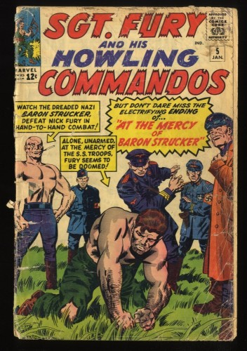 Sgt. Fury and His Howling Commandos #5 P 0.5 1st Baron Strucker!