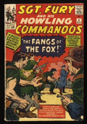 Sgt. Fury and His Howling Commandos #6 GD+ 2.5