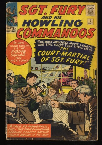 Sgt. Fury and His Howling Commandos #7 GD/VG 3.0 Marvel Comics