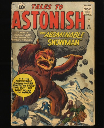 Tales To Astonish #24 Fair 1.0 Pre Hero