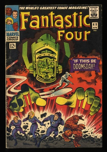Fantastic Four #49 VG+ 4.5 2nd Silver Surfer! Marvel Comics