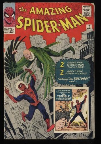 Amazing Spider-Man #2 GD+ 2.5 1st Vulture! Marvel Comics Spiderman