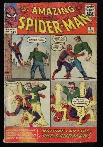 Amazing Spider-Man #4 GD 2.0 1st Sandman! Marvel Comics Spiderman