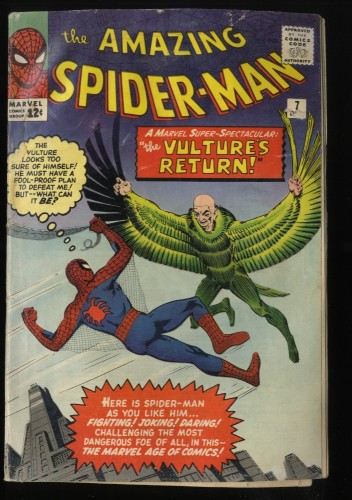 Amazing Spider-Man #7 GD+ 2.5 Vulture! Marvel Comics Spiderman