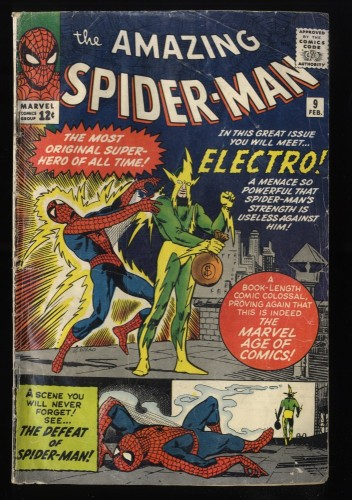 Amazing Spider-Man #9 GD+ 2.5 1st Electro! Marvel Comics Spiderman
