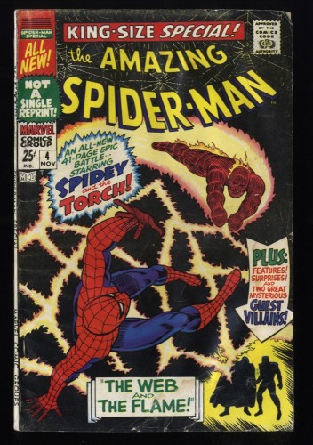 Amazing Spider-Man Annual #4 GD+ 2.5 Human Torch!
