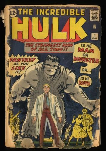 Incredible Hulk (1962) #1 Fair 1.0 1st Hulk!
