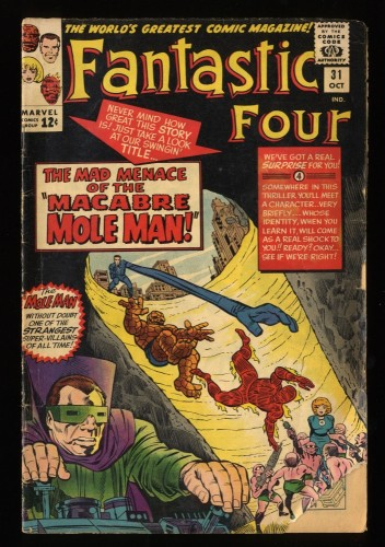 Fantastic Four #31 GD+ 2.5 Marvel Comics