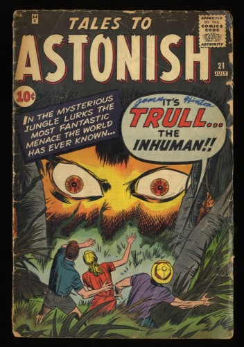 Tales To Astonish #21 GD- 1.8 Hulk Prototype!