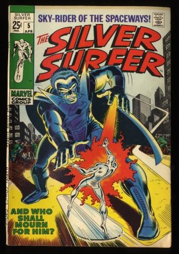 Silver Surfer #5 FN+ 6.5 Marvel Comics