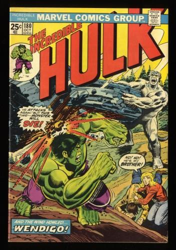 Incredible Hulk (1968) #180 FN+ 6.5 1st Cameo Wolverine! Marvel Comics