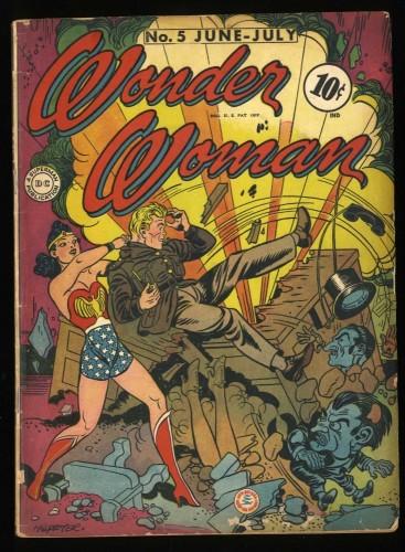 Wonder Woman #5 GD 2.0 1st Dr. Psycho! Unrestored!