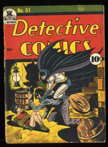 Detective Comics #51 GD- 1.8 Batman Robin Bondage cover!