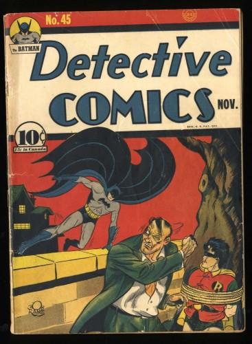 Detective Comics #45 GD/VG 3.0 (Restored) 1st Joker in Detective! Batman!