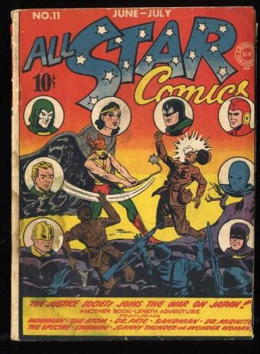 All-Star Comics #11 GD 2.0 Wonder Woman Spectre Dr. Fate Hawkman!