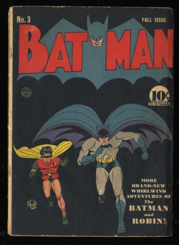 Batman #3 P 0.5 1st Puppet Master! 1st Catwoman in Costume!