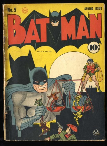Batman #5 Fair 1.0 (Restored) 1st Linda Page!