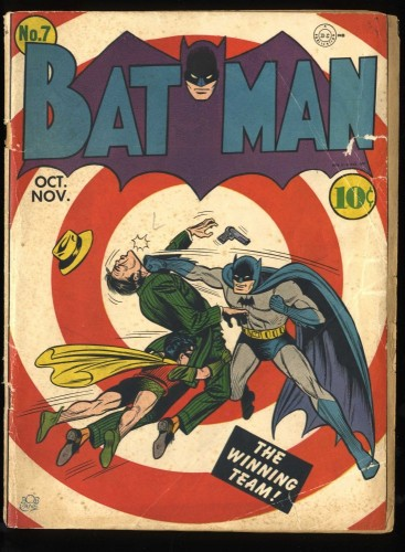 Batman #7 GD- 1.8 Classic Bullseye Cover!
