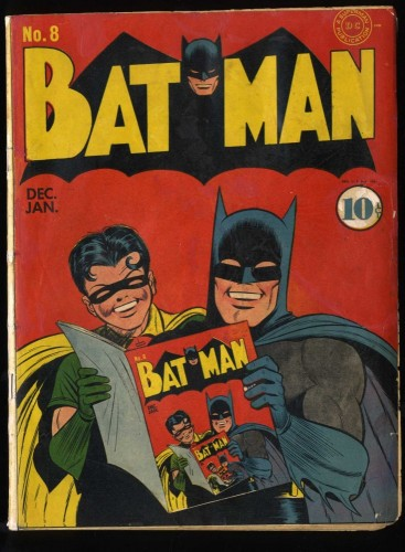 Batman #8 GD/VG 3.0 (Restored) Classic Infinity Cover!