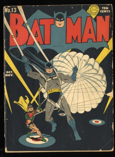 Batman #13 GD+ 2.5 Classic WWII Cover!