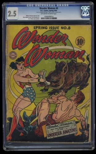 Wonder Woman #8 CGC GD+ 2.5 Off White to White
