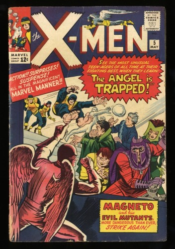 X-Men #5 VG 4.0 2nd Magneto! Marvel Comics