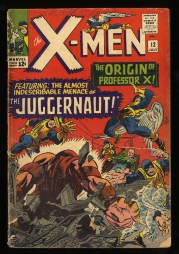 X-Men #12 GD 2.0 1st Juggernaut! Marvel Comics