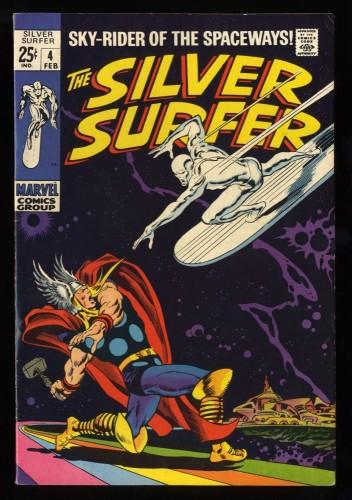 Silver Surfer #4 VF- 7.5 vs Thor! Marvel Comics