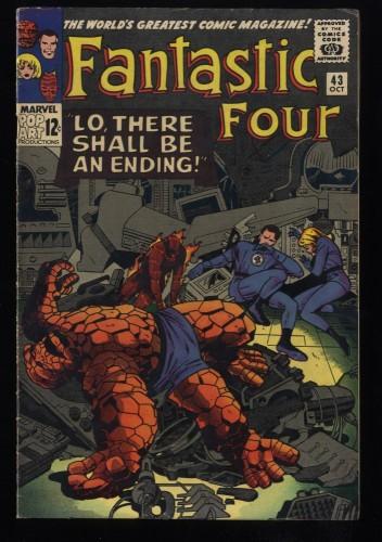 Fantastic Four #43 FN+ 6.5 Marvel Comics
