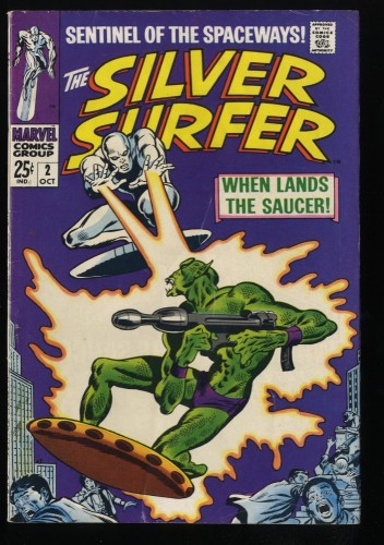 Silver Surfer #2 FN+ 6.5 1st Badoon Marvel Comics