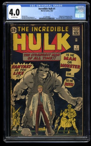 Incredible Hulk #1 CGC VG 4.0 Off White No Marvel Chipping!