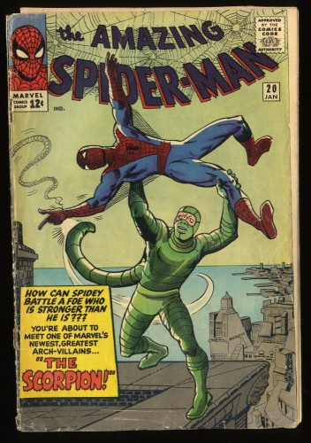Amazing Spider-Man #20 Inc 0.3 1st Scorpion! Marvel Comics Spiderman