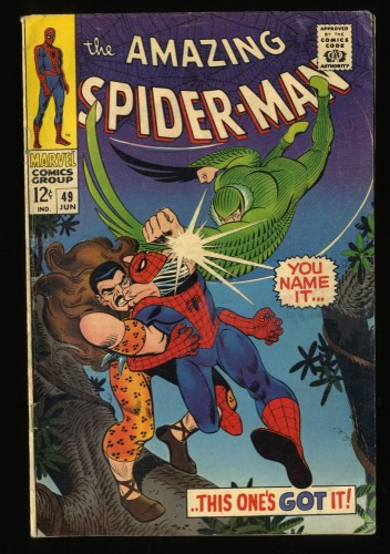 Amazing Spider-Man #49 VG+ 4.5 Kraven! Marvel Comics Spiderman
