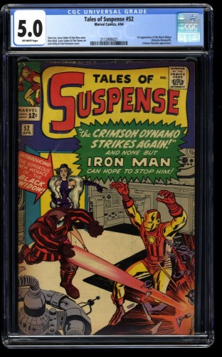 Tales of Suspense #52 CGC VG/FN 5.0 Off White 1st Black Widow! Iron Man