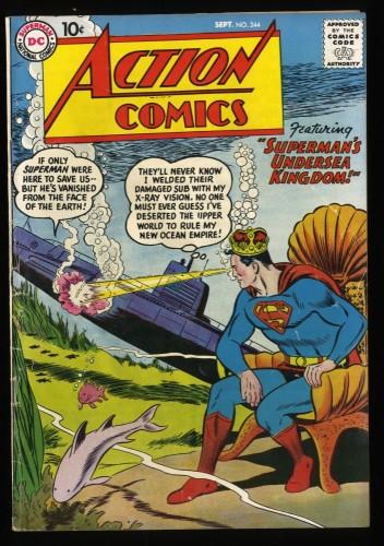 Action Comics #244 VG+ 4.5 DC Comics DC Superman
