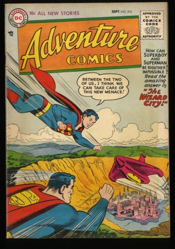 Adventure Comics #216 VG/FN 5.0 Superboy!  DC Superman