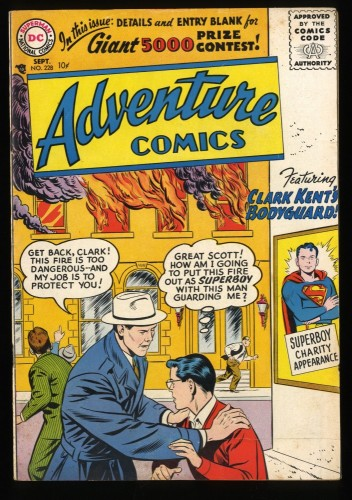 Adventure Comics #228 VG/FN 5.0 Superboy! DC Superman
