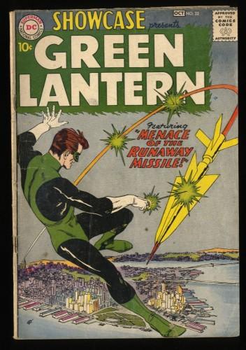 Showcase #22 VG- 3.5 1st Hal Jordan!  1st Silver Age Green Lantern! DC Comics