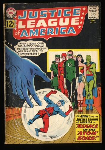 Justice League Of America #14 VG- 3.5 DC Comics