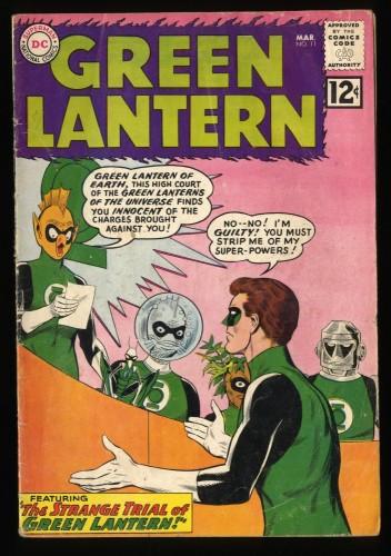 Green Lantern #11 VG 4.0 Trial of Green Lantern! DC Comics