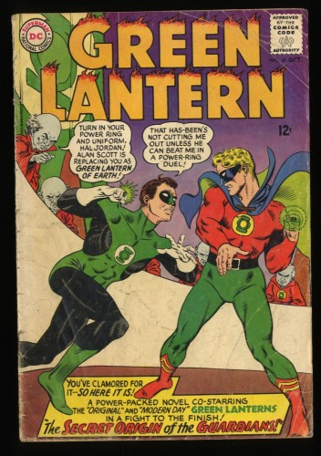 Green Lantern #40 GD/VG 3.0 Golden Age GL Crossover!  Origin of The Guardians!